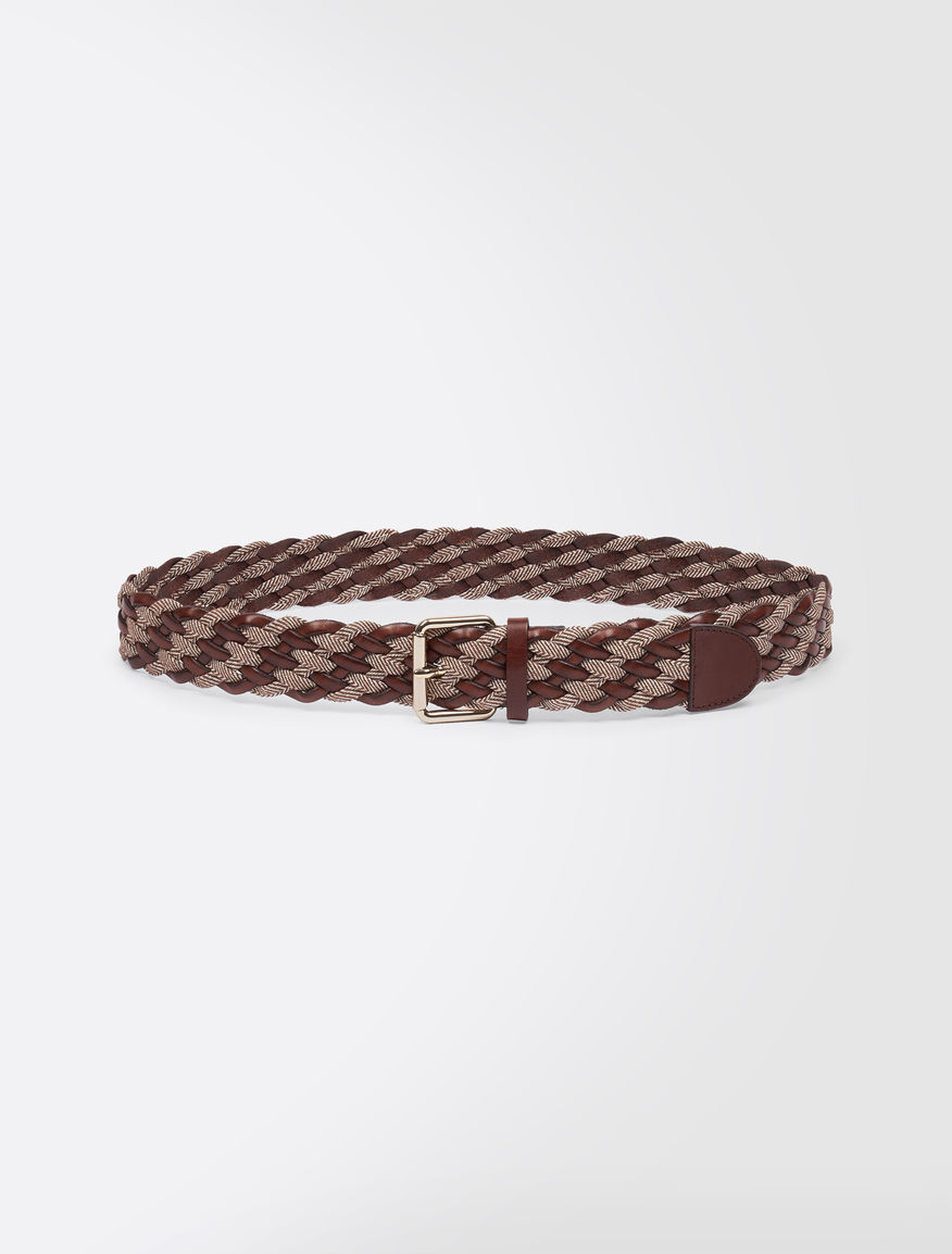 Tweed and leather belt Weekend Maxmara