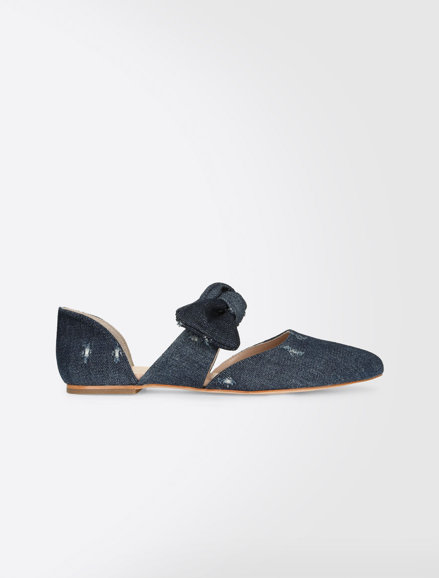 Denim ballet flats Weekend Maxmara