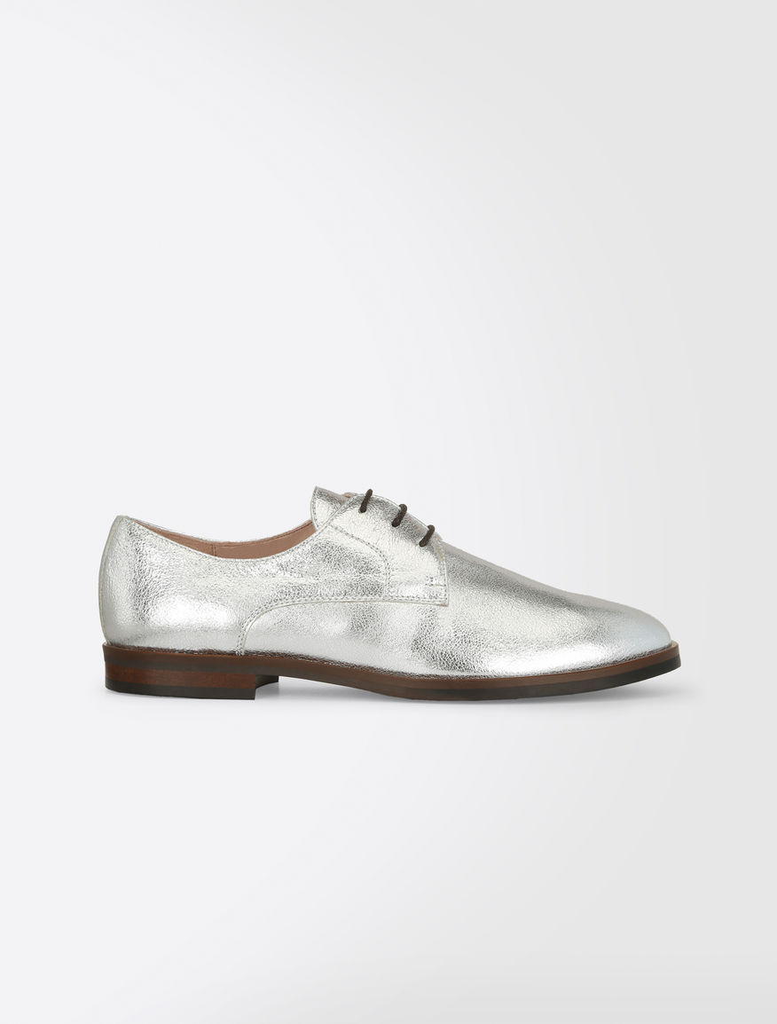 Lace-up laminated leather shoes Weekend Maxmara