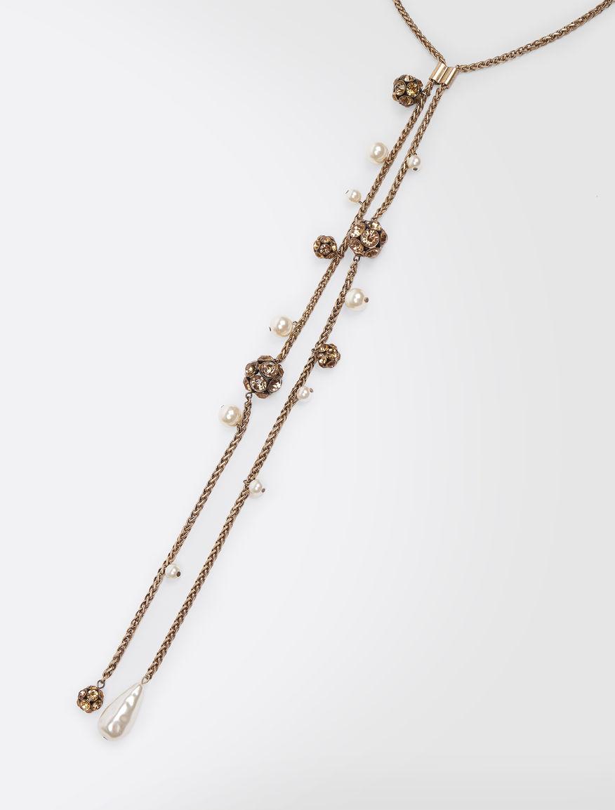 Pearl and rhinestone necklace Weekend Maxmara