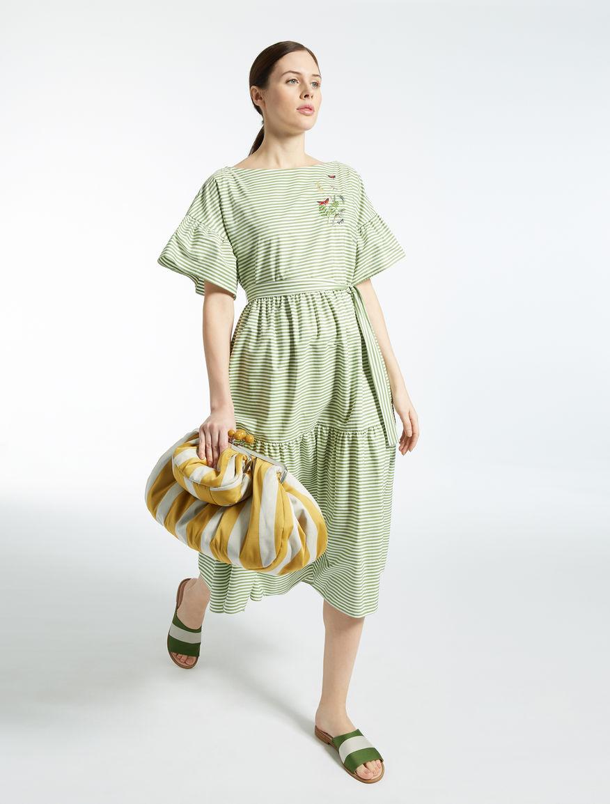 Striped cotton Mini Pasticcino Bag Weekend Maxmara