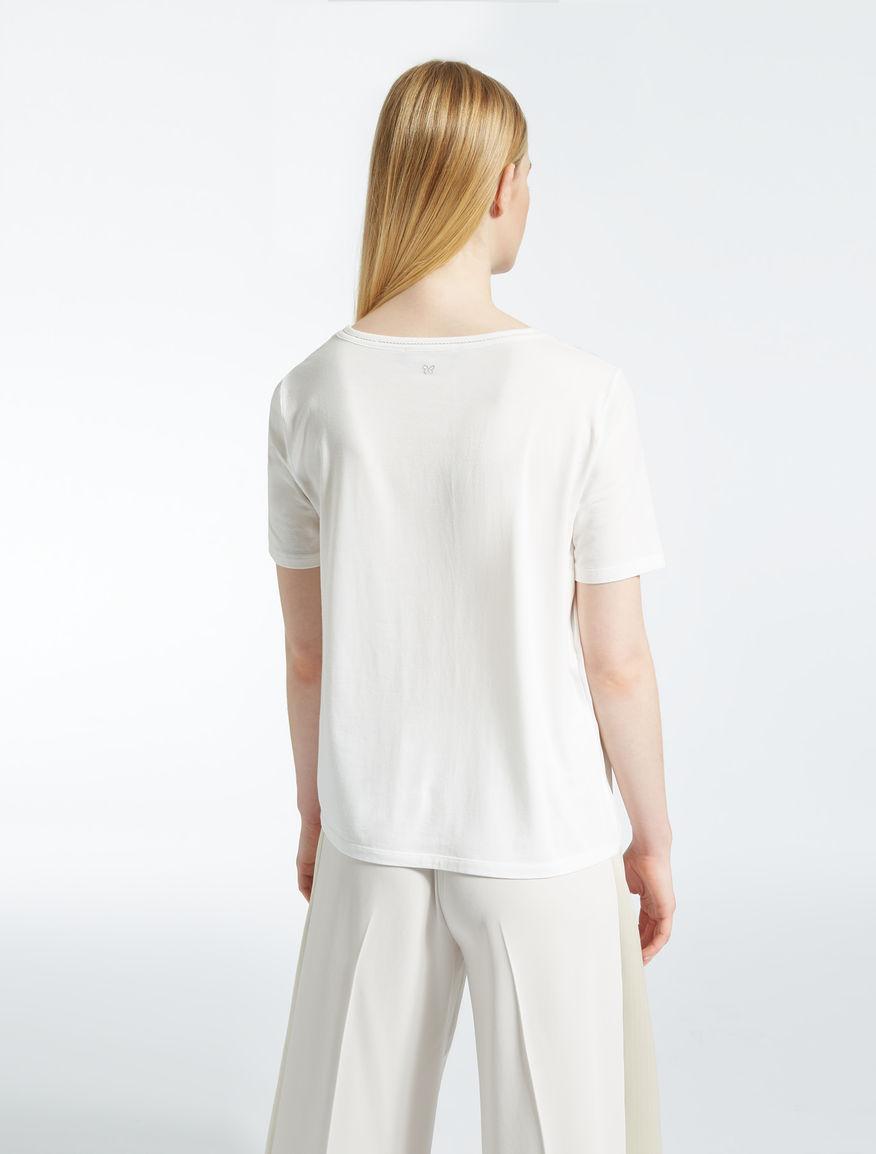 Cotton and silk T-shirt Weekend Maxmara