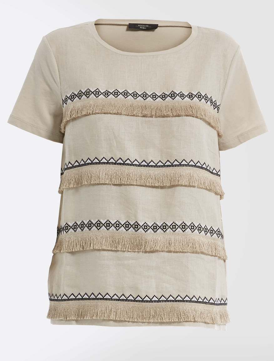 Cotton and linen jersey T-shirt Weekend Maxmara