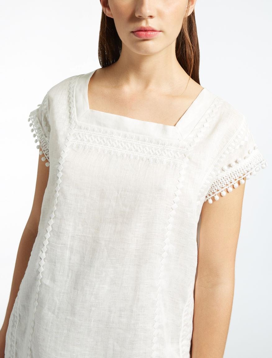 Cotton and linen jersey T-shirt Weekend Maxmara