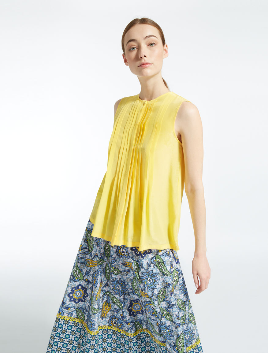 Cotton and silk top Weekend Maxmara