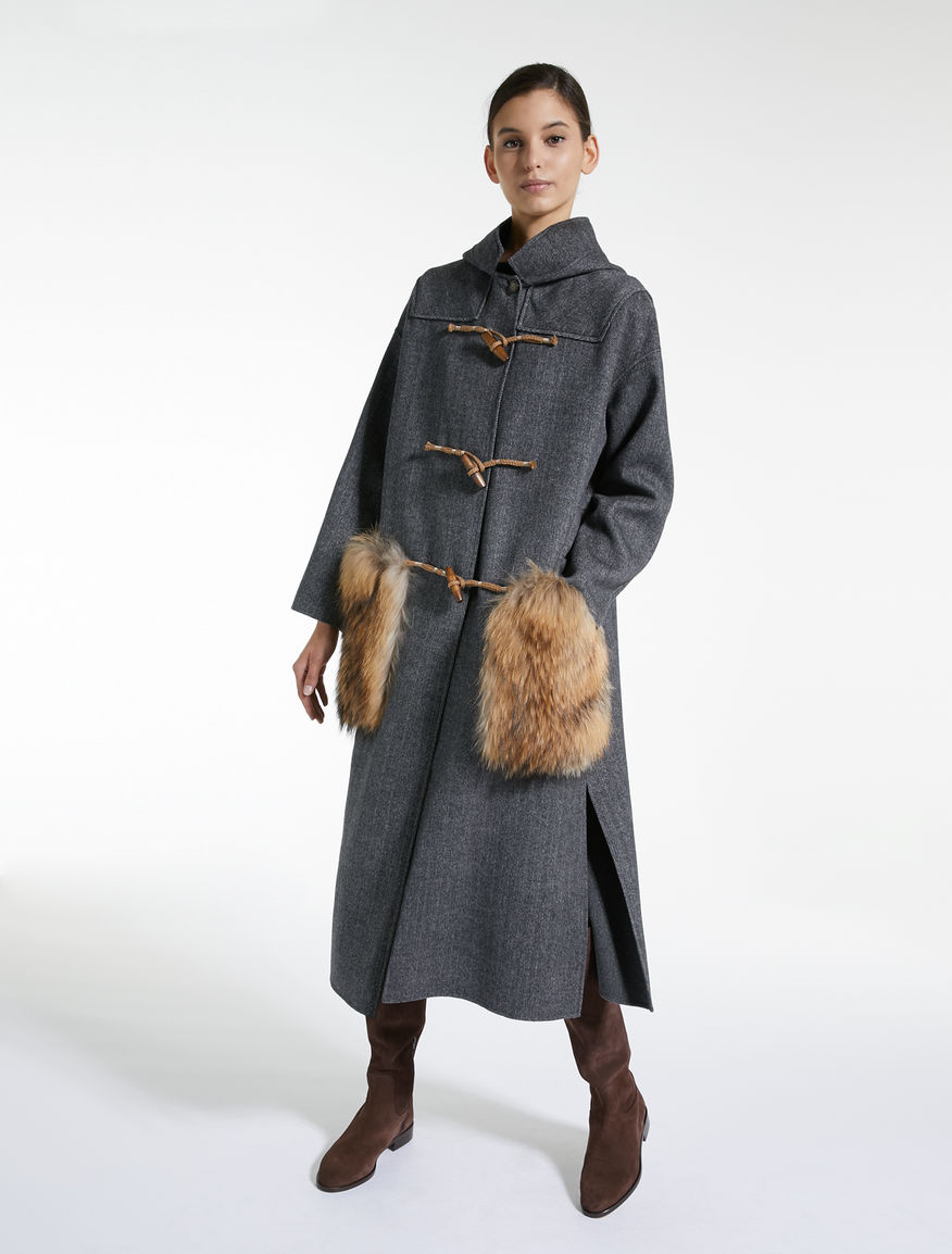Wool and fur duffel coat Weekend Maxmara