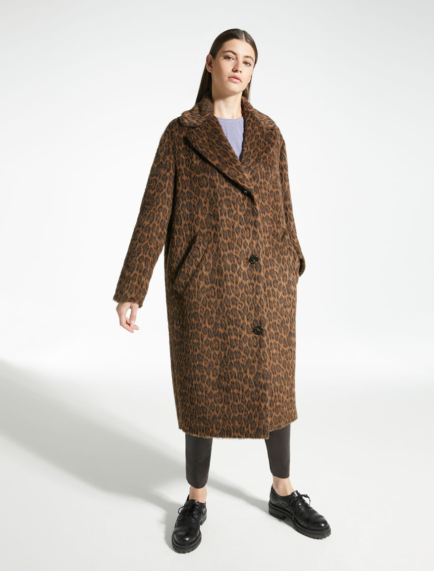 Alpaca and jacquard wool coat Weekend Maxmara