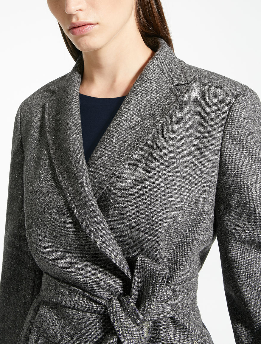 Blazer in tweed di lana e seta Weekend Maxmara