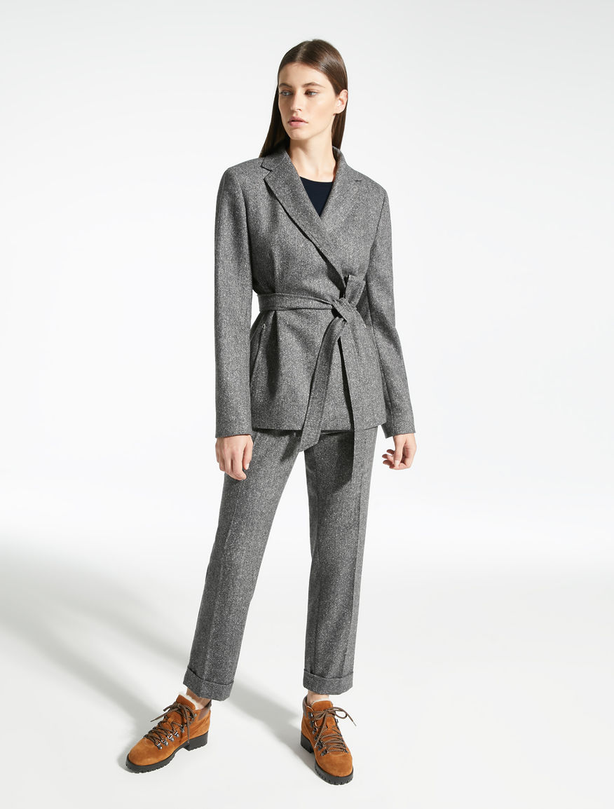 Blazer in tweed di lana e seta Weekend Maxmara