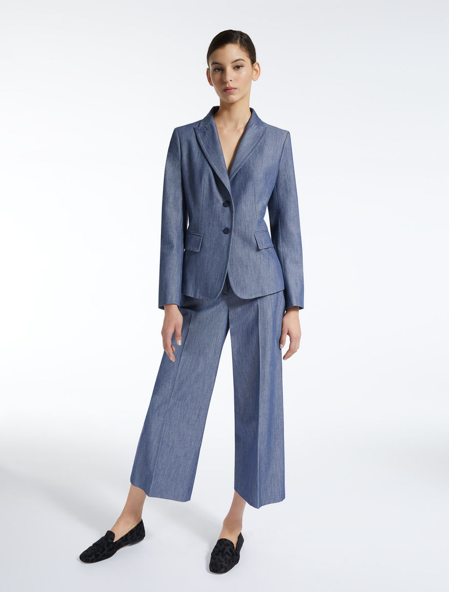 Denim-effect cotton blazer Weekend Maxmara