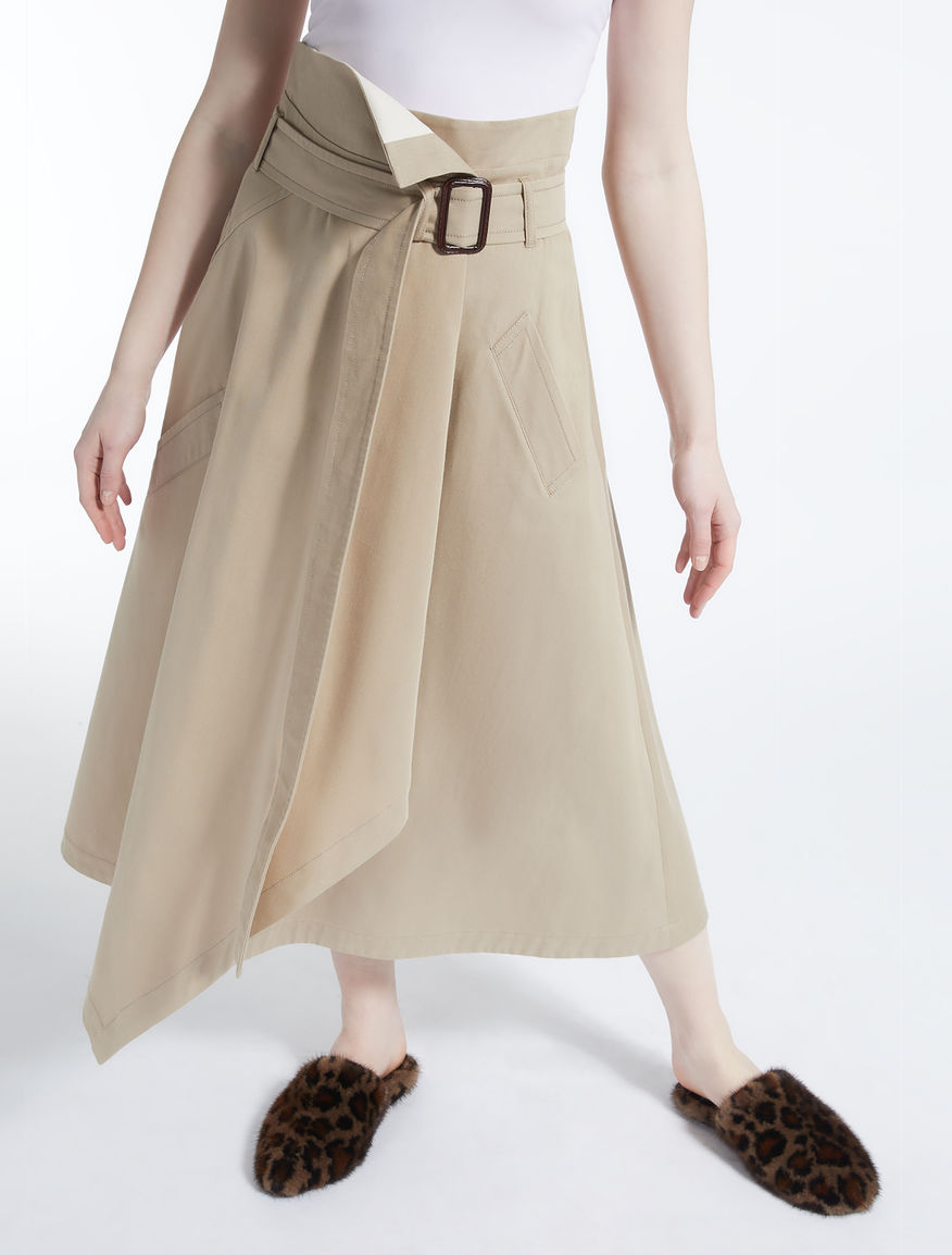 Cotton drill skirt Weekend Maxmara