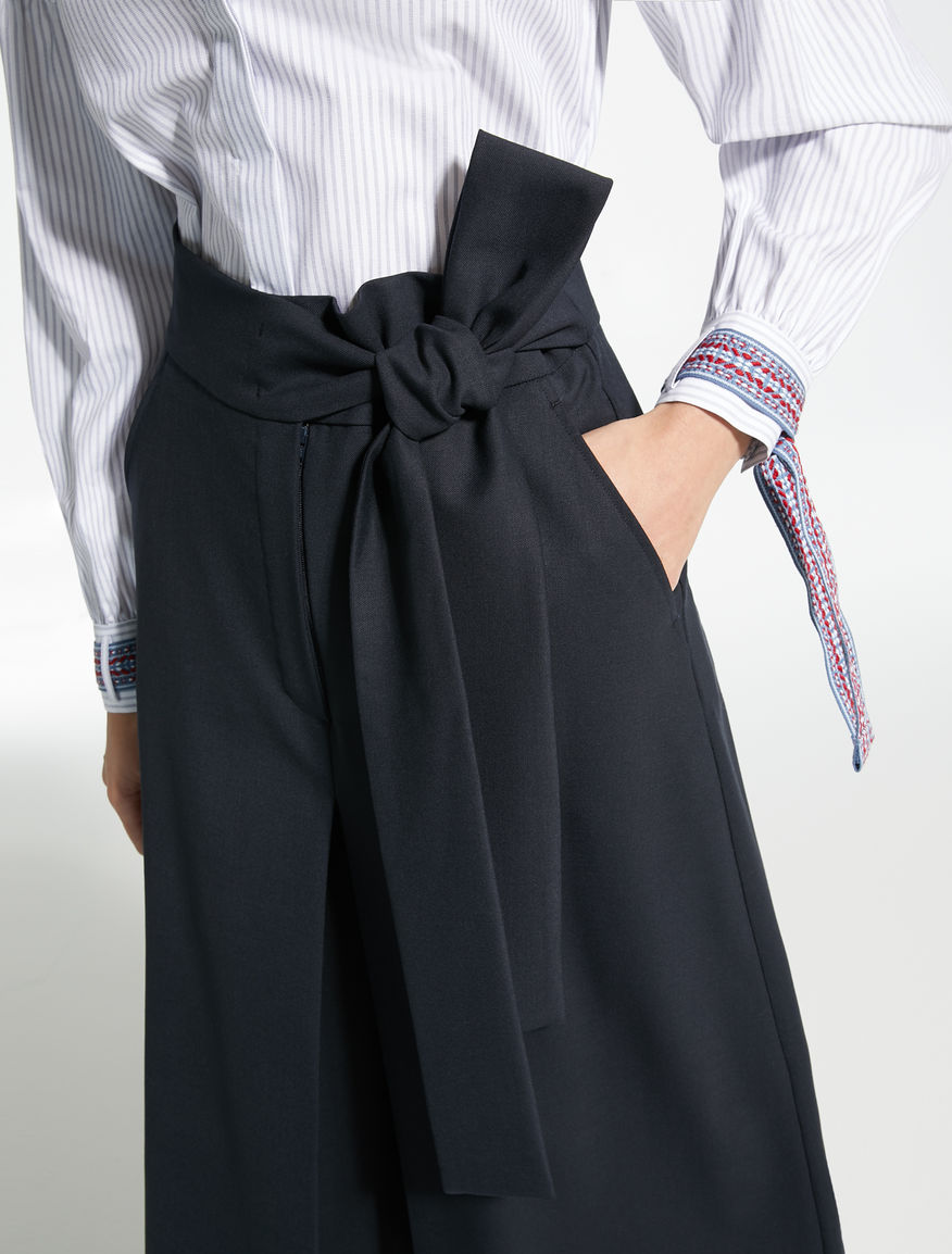 Pantaloni in gabardina di lana Weekend Maxmara