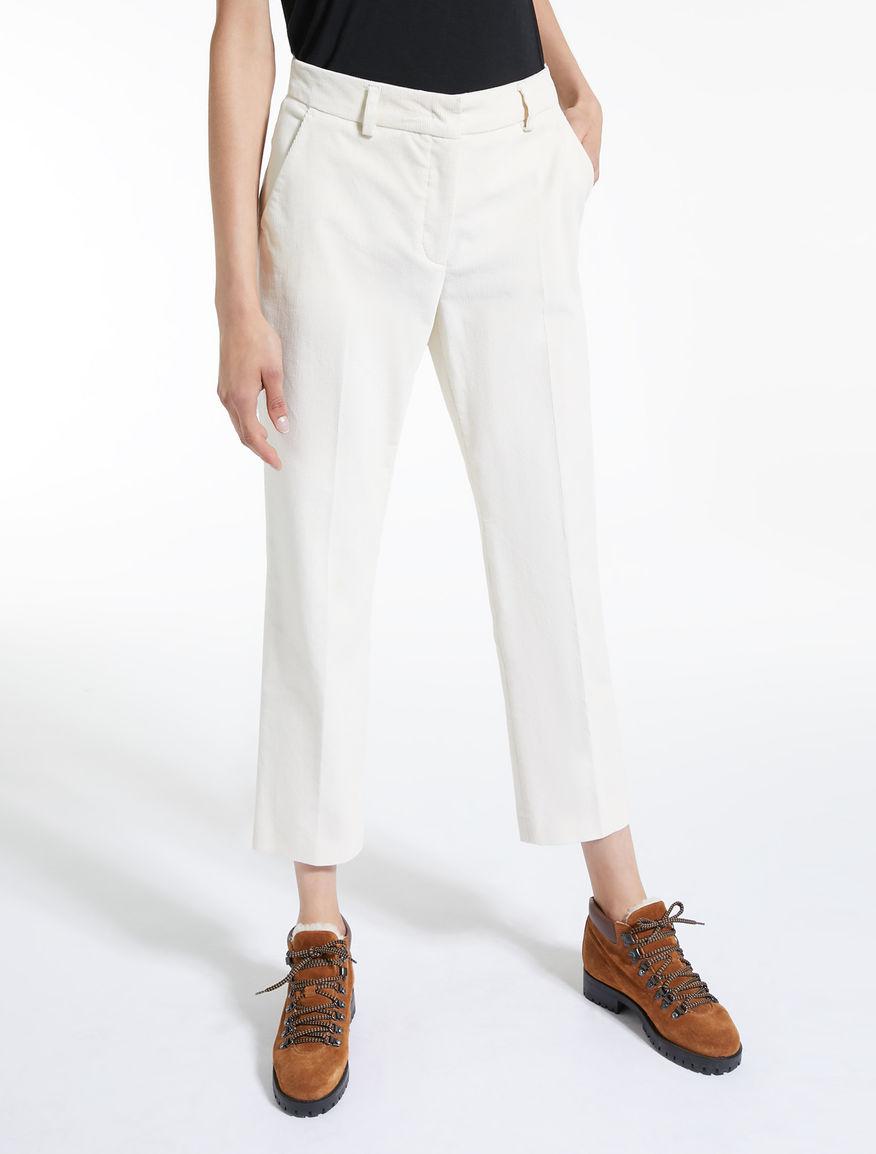 Stretch velvet trousers Weekend Maxmara