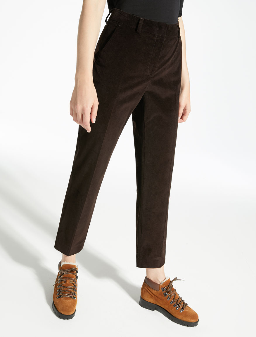 Stretch velvet trousers Weekend Maxmara