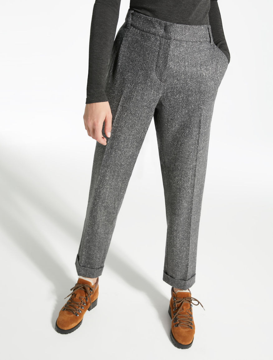 Tweed wool trousers Weekend Maxmara