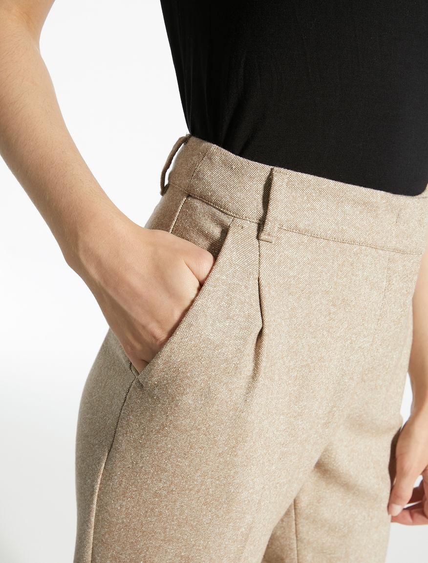 Pantaloni in tweed di lana Weekend Maxmara
