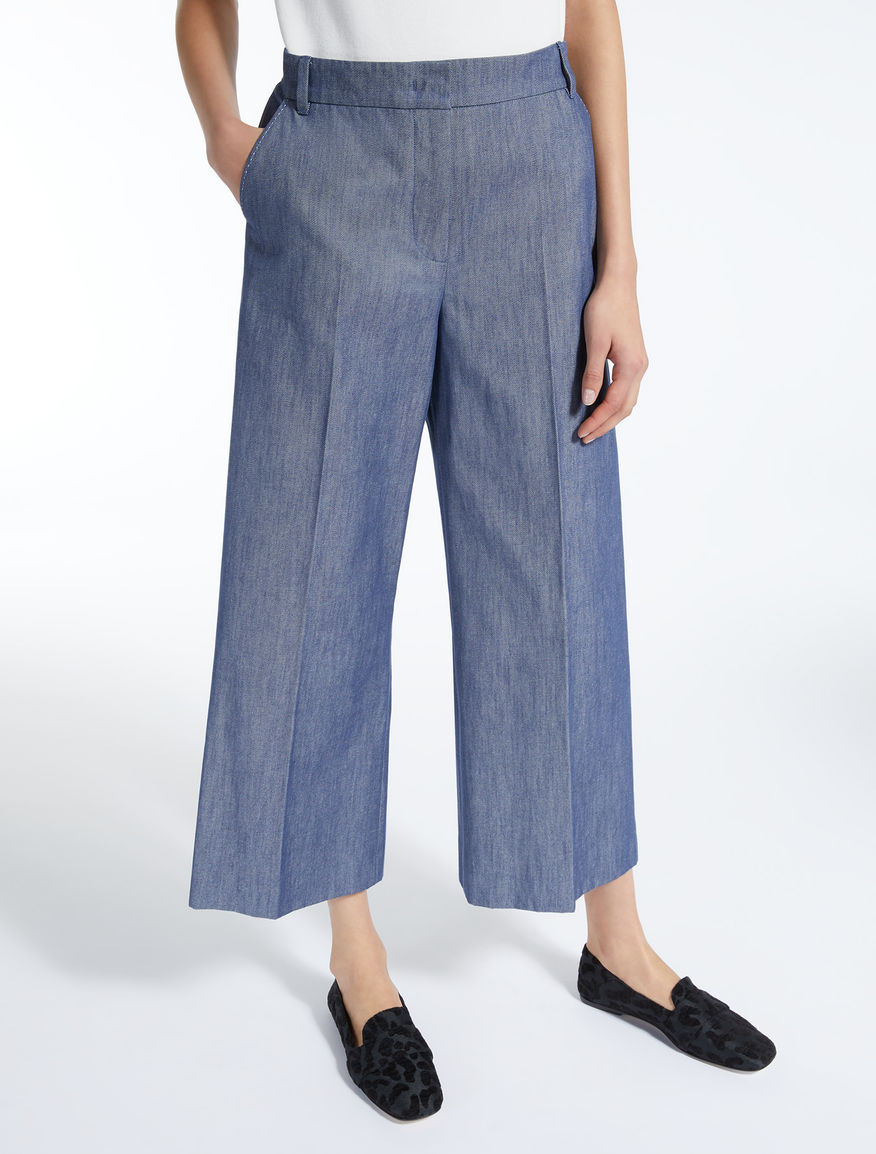 Denim-effect cotton trousers Weekend Maxmara