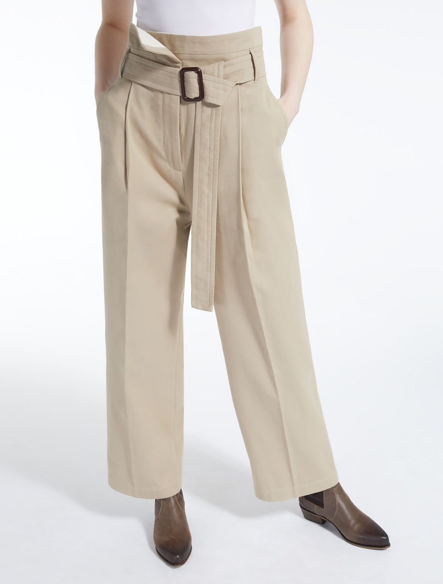 Cotton drill trousers Weekend Maxmara