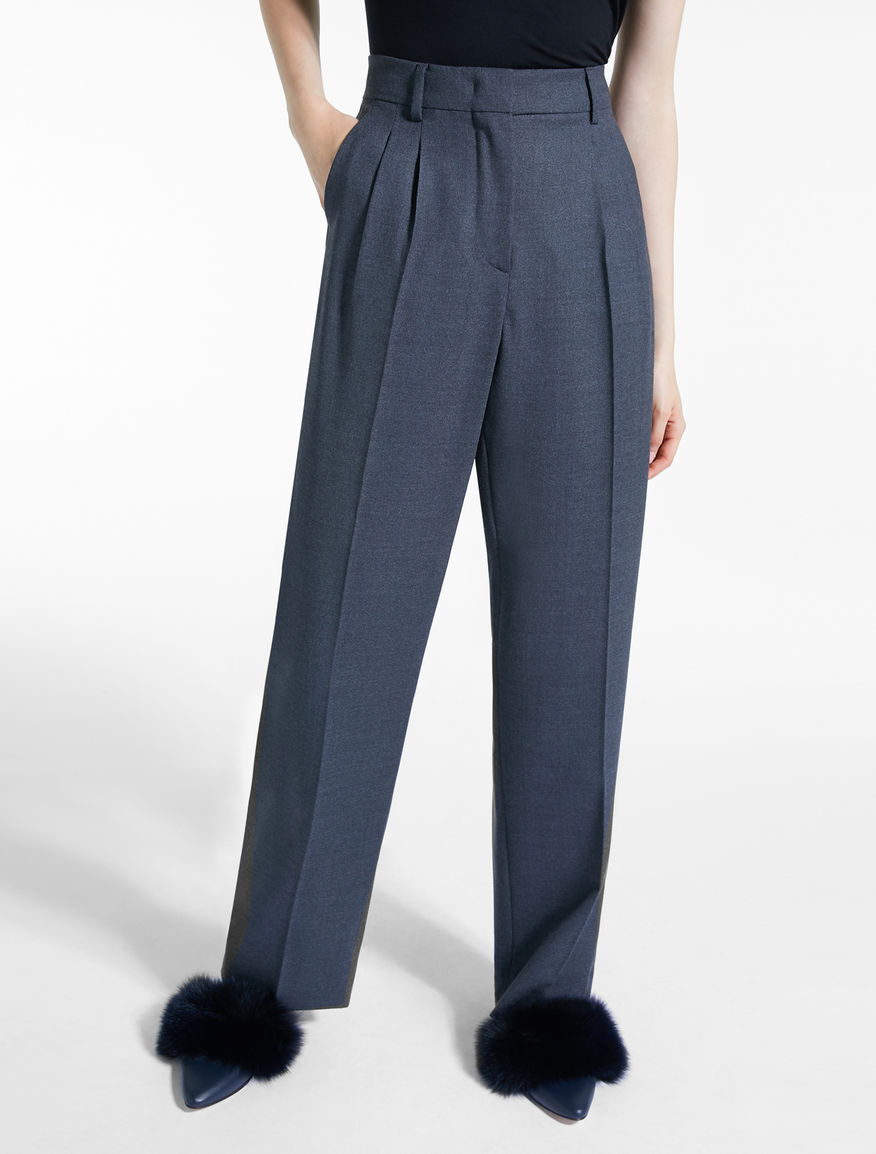 Pantaloni in sablé di lana Weekend Maxmara