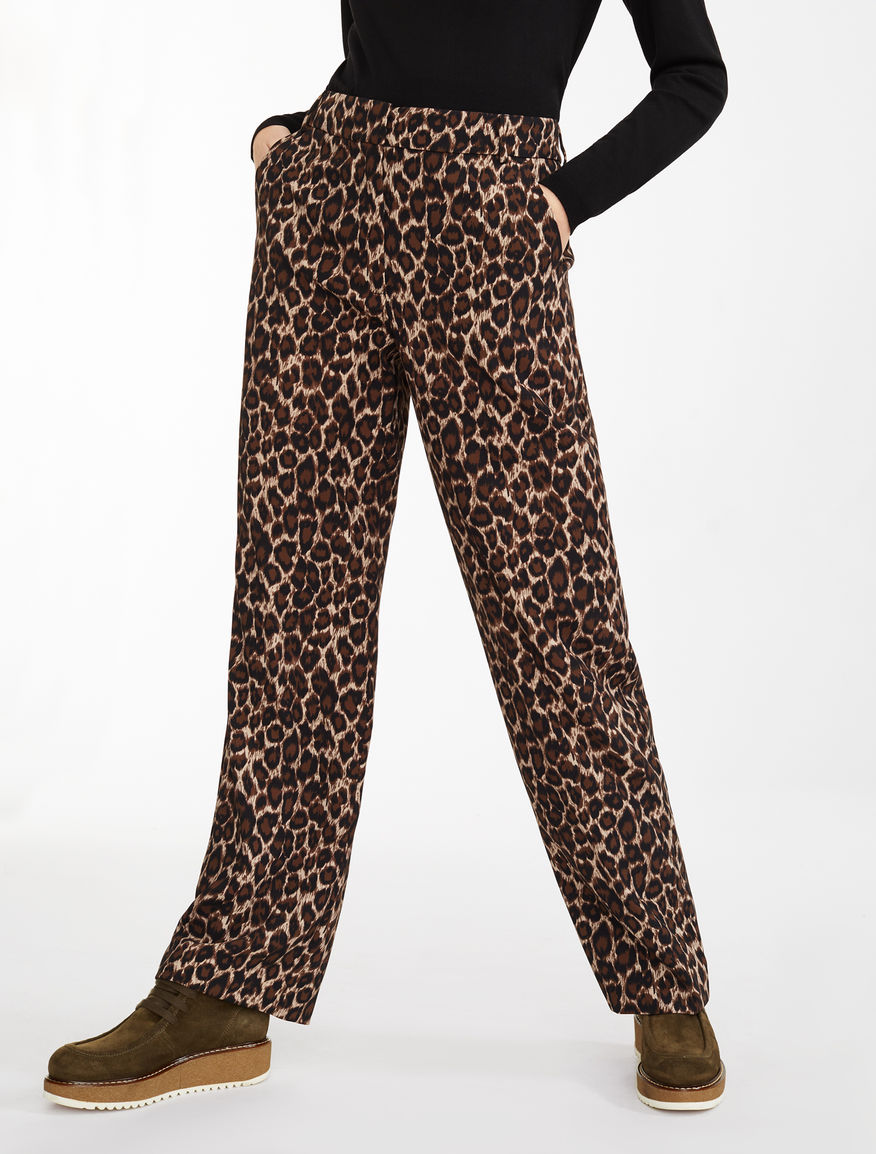 Pantaloni in cady stampato Weekend Maxmara