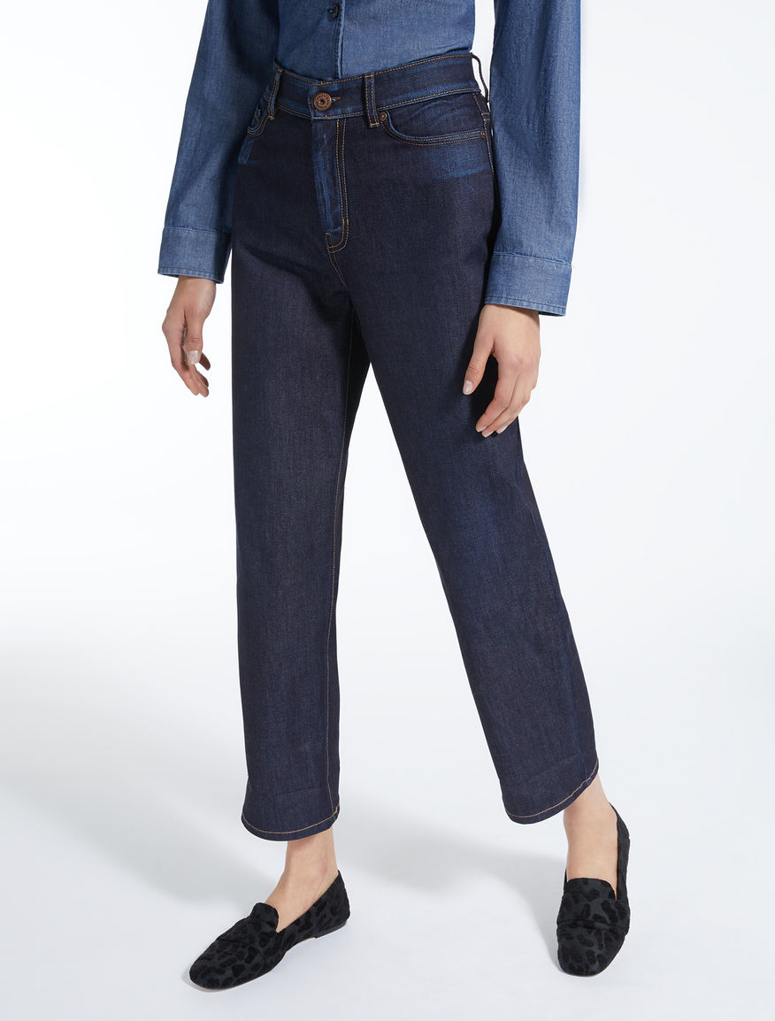 Jeans dritti in denim Weekend Maxmara