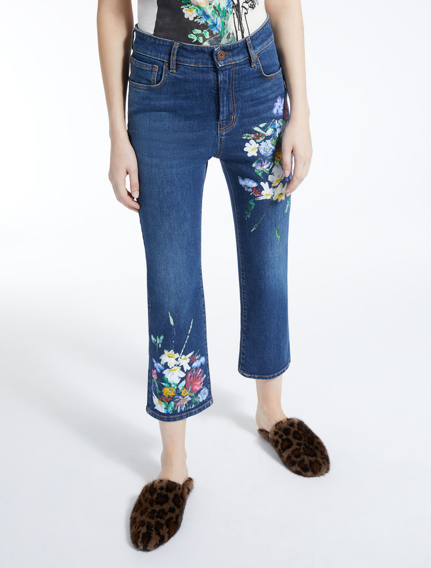 Jeans svasato in denim stampato Weekend Maxmara