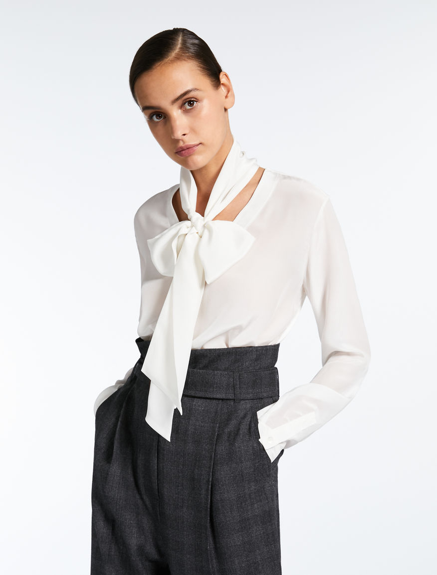 Silk and stretch jersey blouse Weekend Maxmara