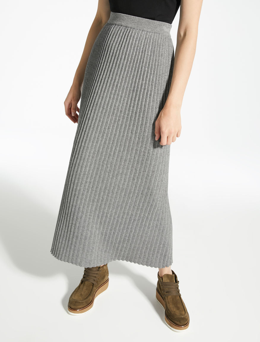 Wool, viscose and cashmere skirt Weekend Maxmara