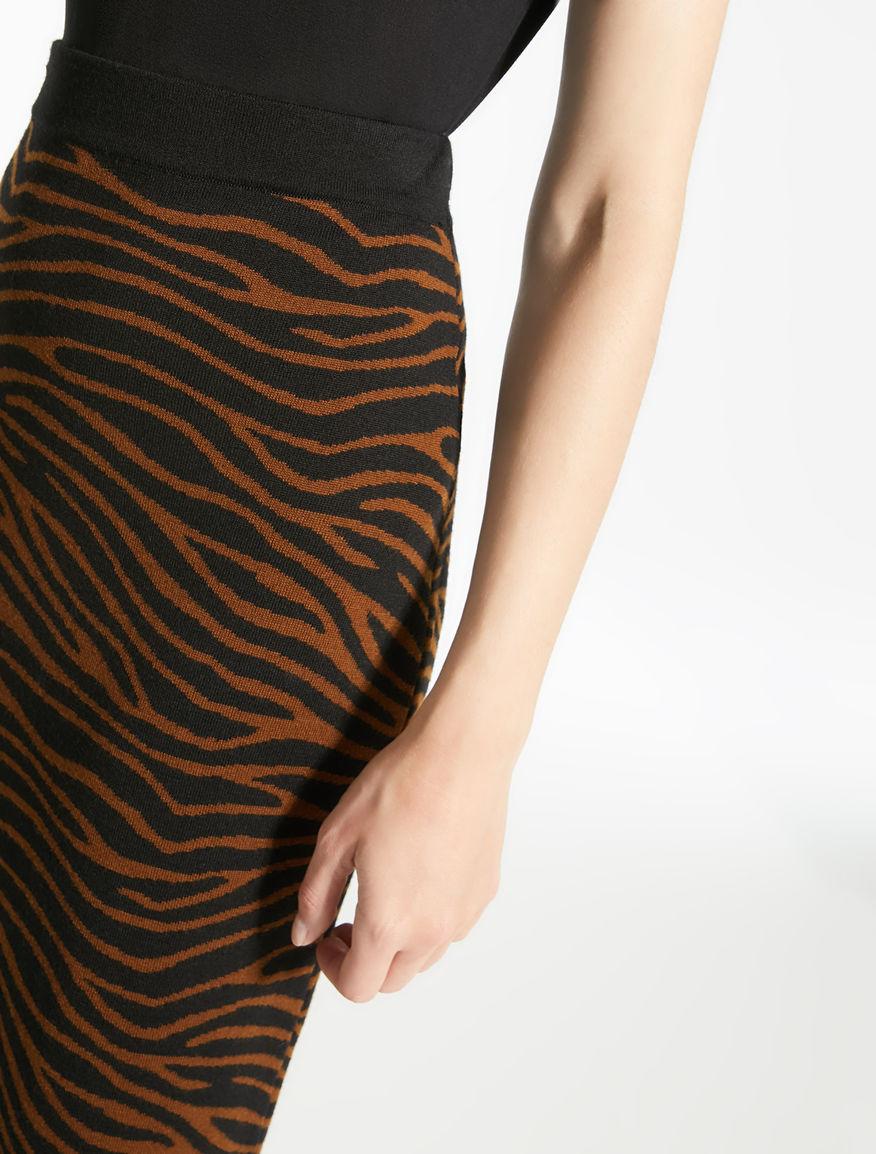 Jacquard wool yarn skirt Weekend Maxmara