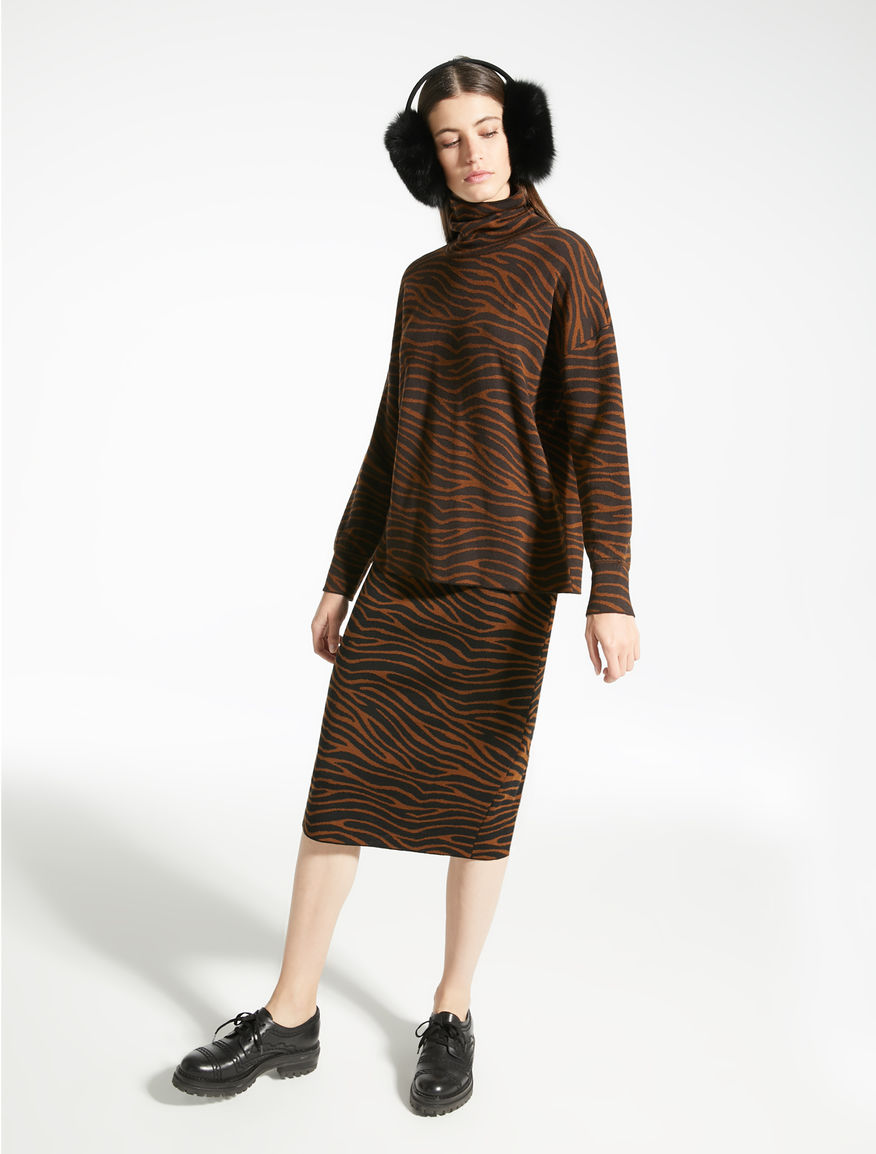 Gonna in filato di lana jacquard Weekend Maxmara