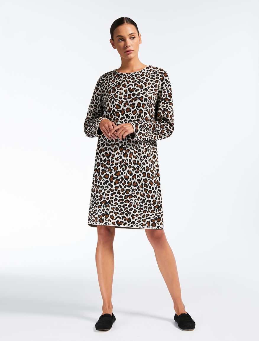 Jacquard wool yarn dress Weekend Maxmara