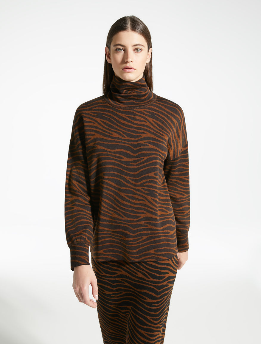 Jacquard wool yarn jumper Weekend Maxmara