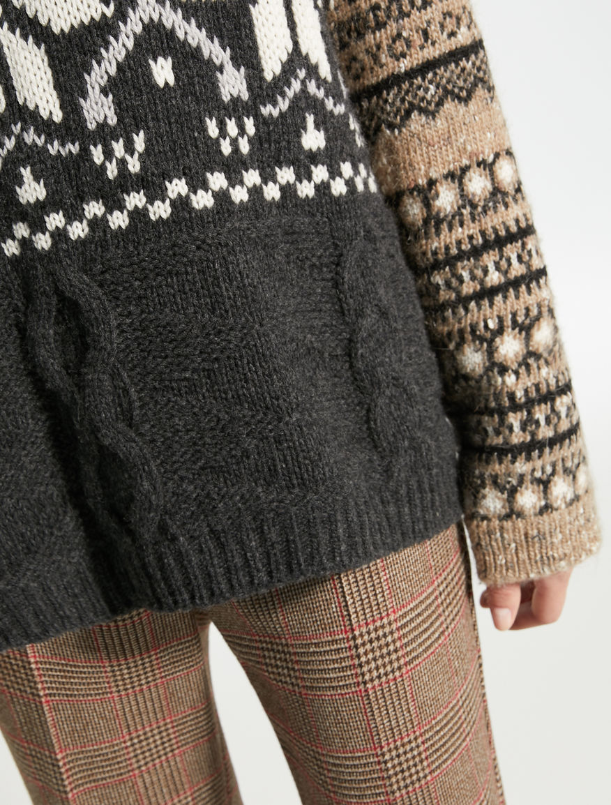 Jacquard wool yarn pullover Weekend Maxmara
