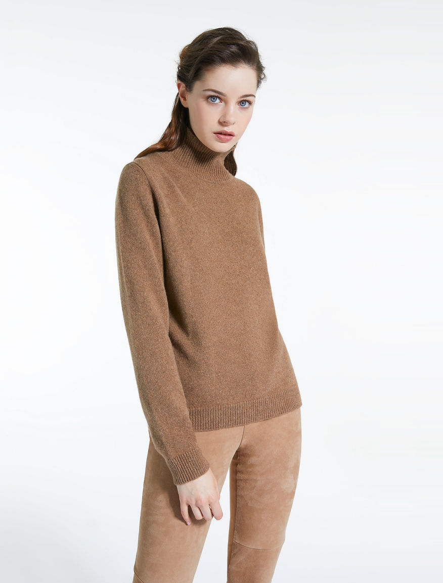 Alpaca and yak yarn polo neck jumper Weekend Maxmara