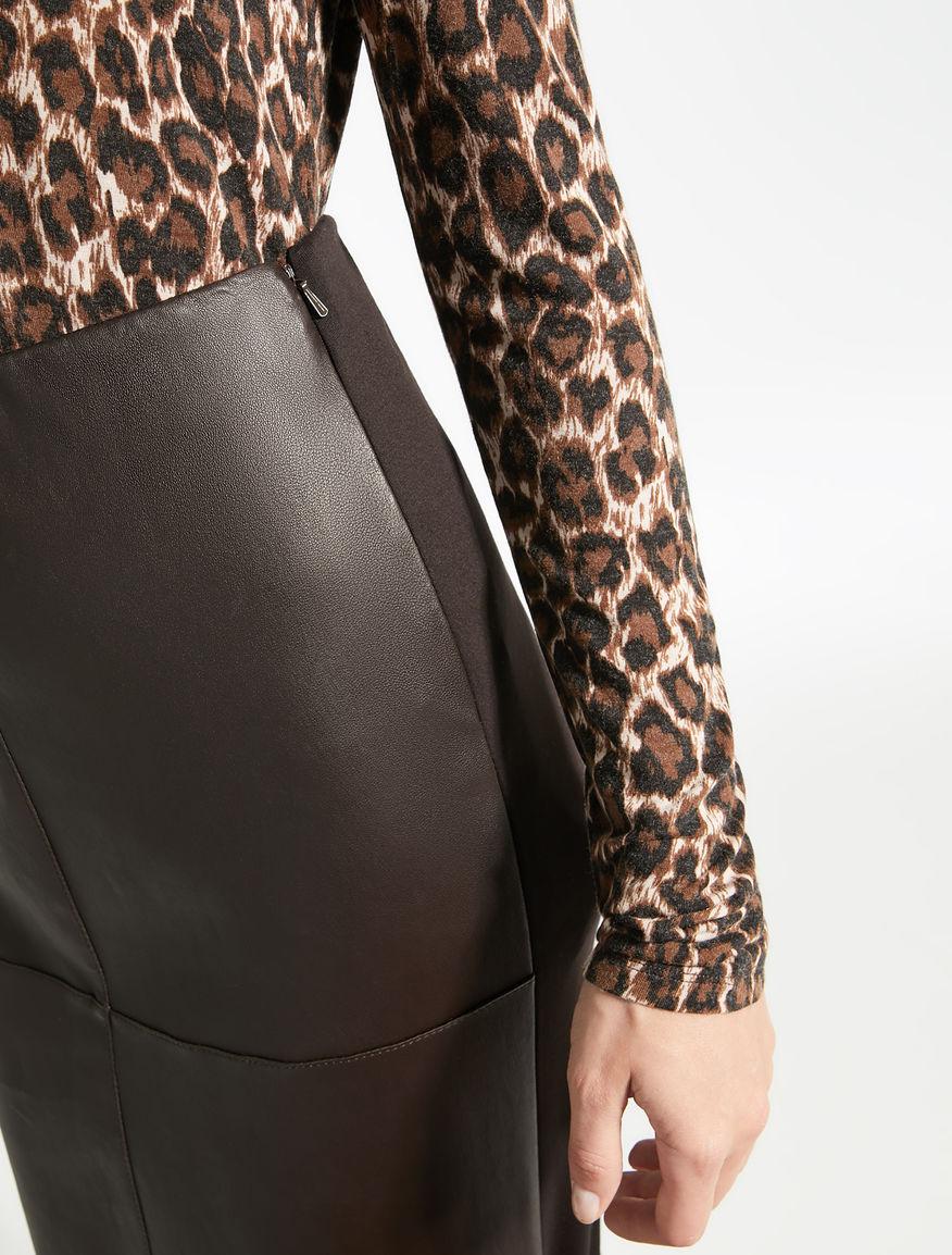 Stretch nappa leather skirt Weekend Maxmara