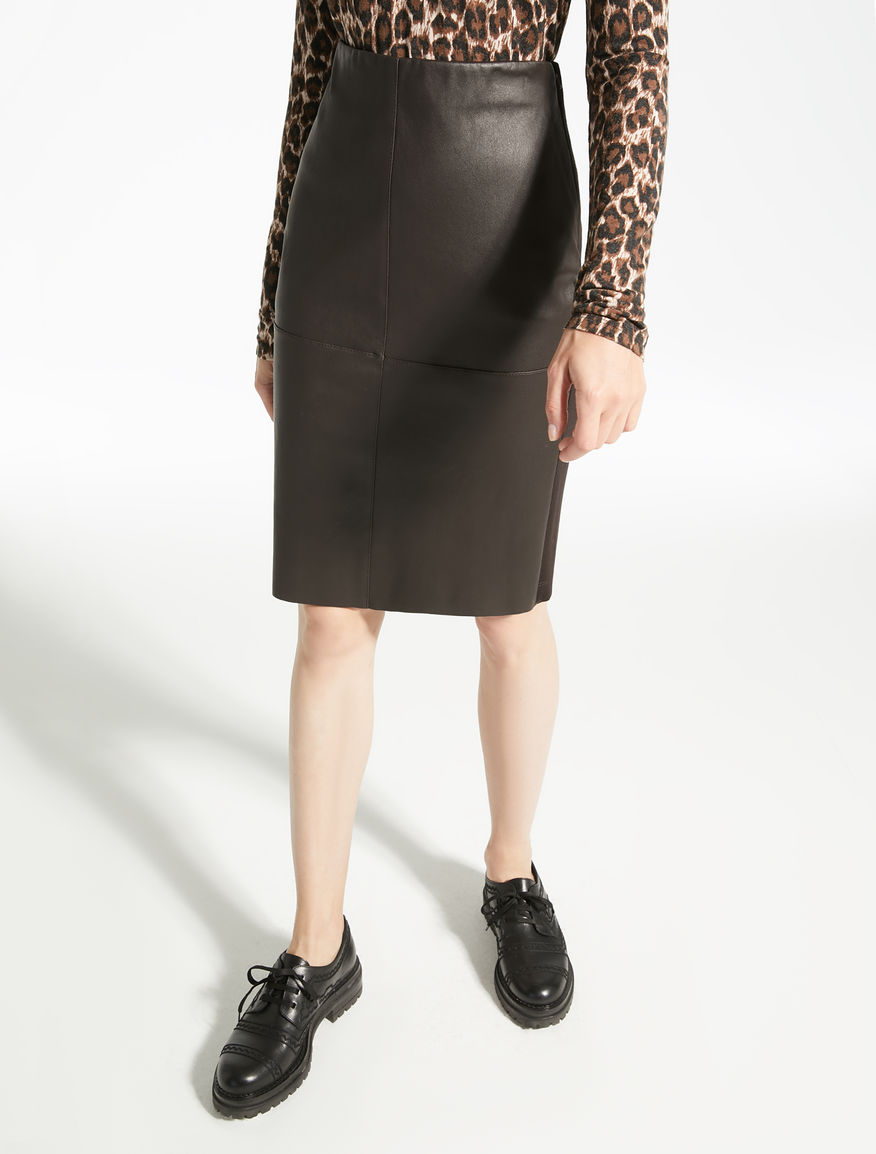 Stretch nappa leather skirt Weekend Maxmara