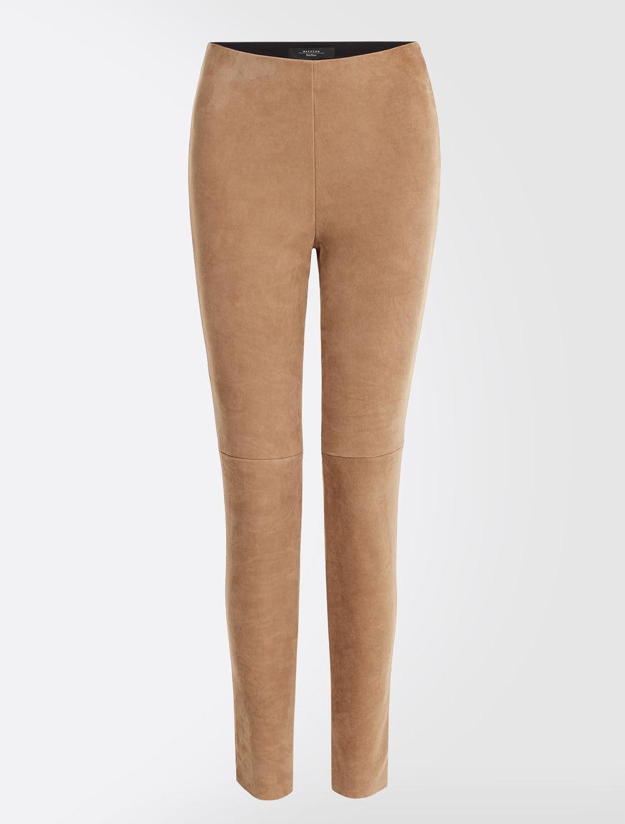 Suede leather trousers Weekend Maxmara