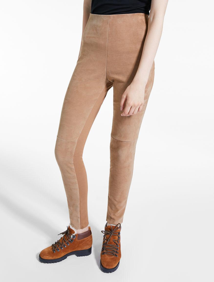 Pantaloni in pelle scamosciata Weekend Maxmara