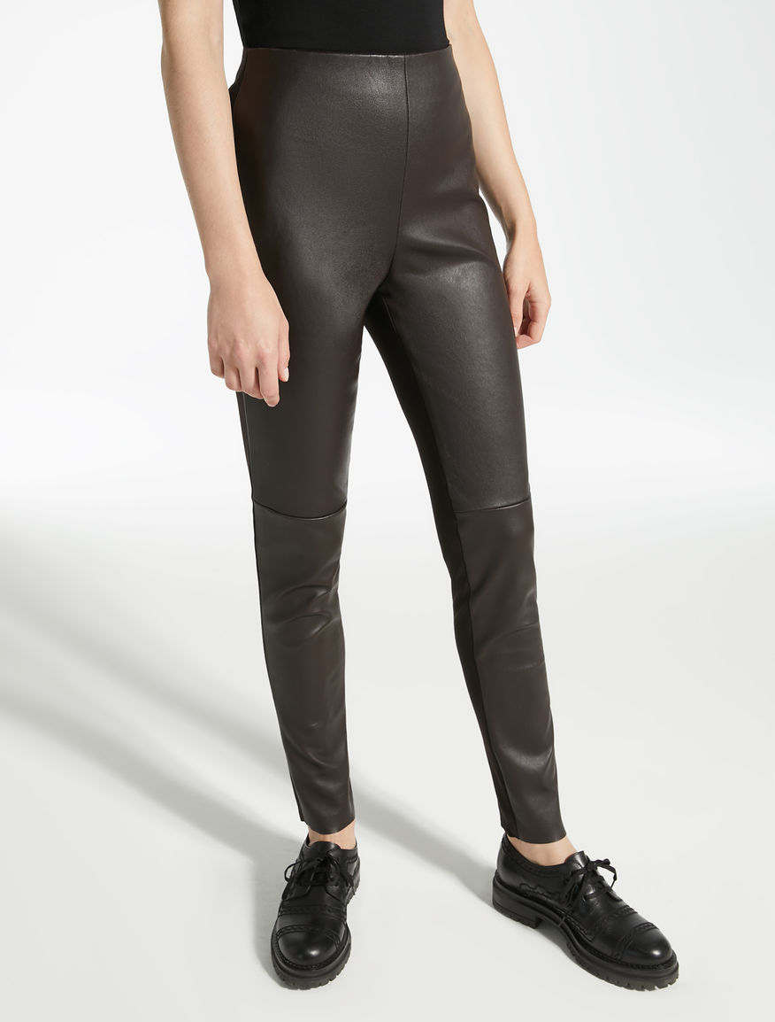 Stretch nappa leather trousers Weekend Maxmara