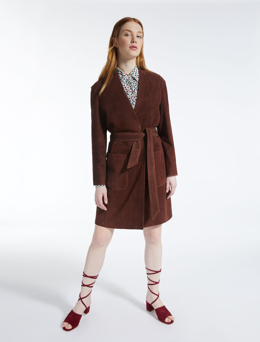 Suede duster coat Weekend Maxmara