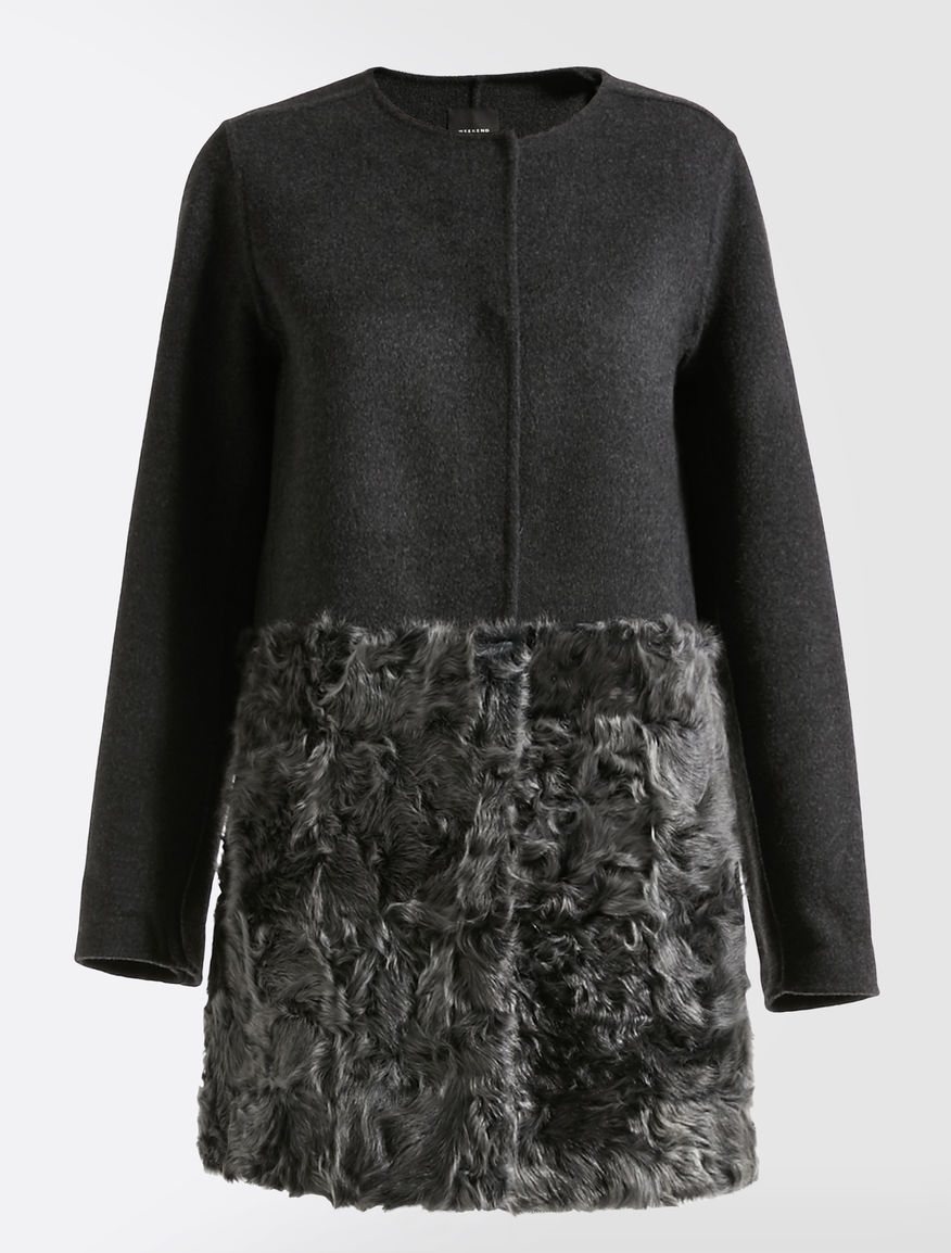 Wool and fur coat Weekend Maxmara