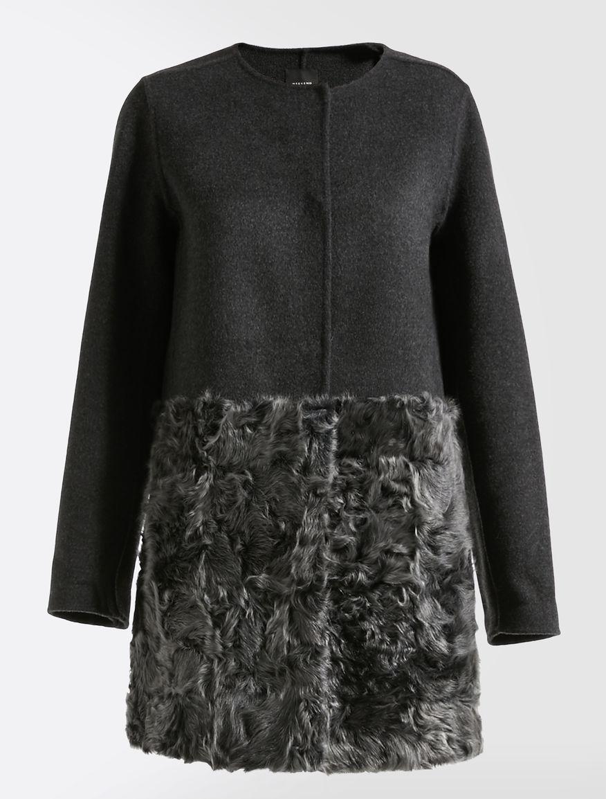 Cappotto in lana e pelliccia Weekend Maxmara