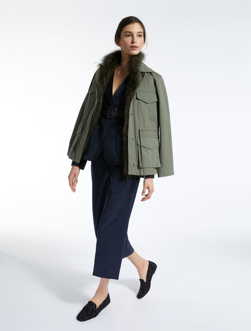 Cotton and fur jacket Weekend Maxmara