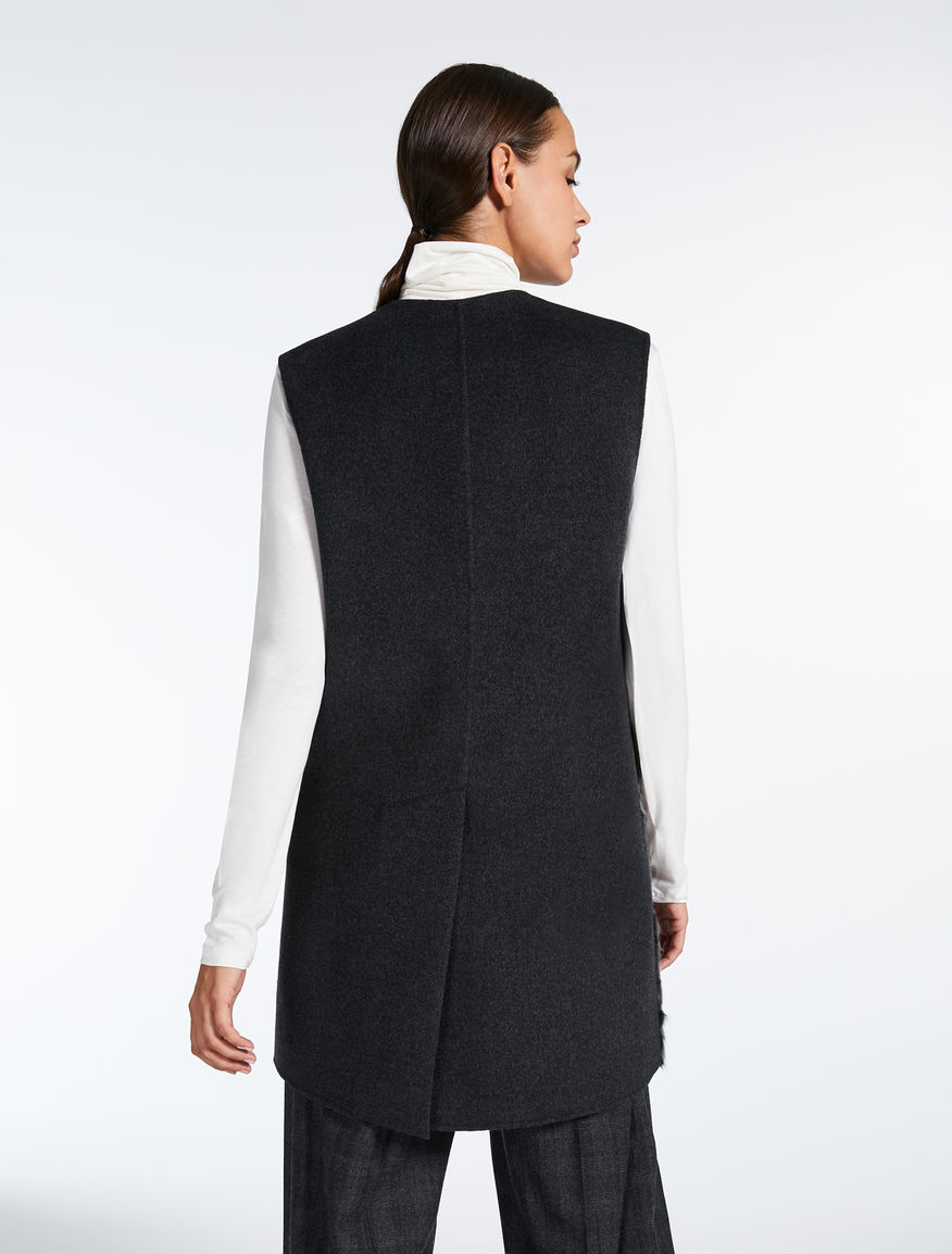 Wool and fur gilet Weekend Maxmara