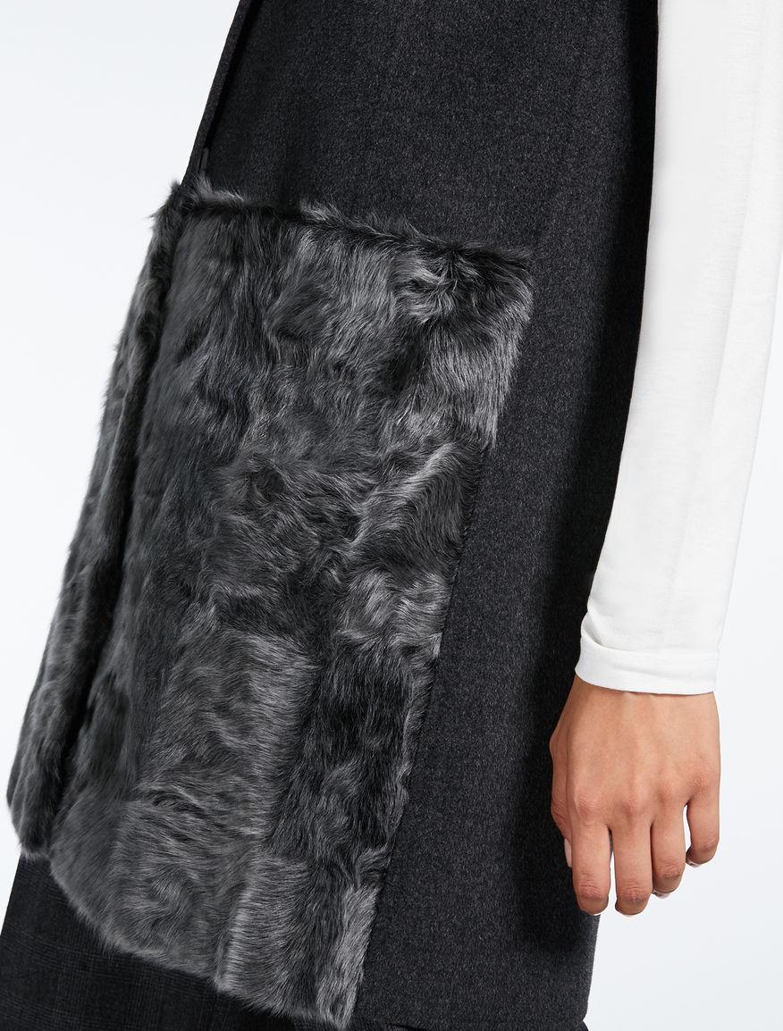Gilet in lana e pelliccia Weekend Maxmara
