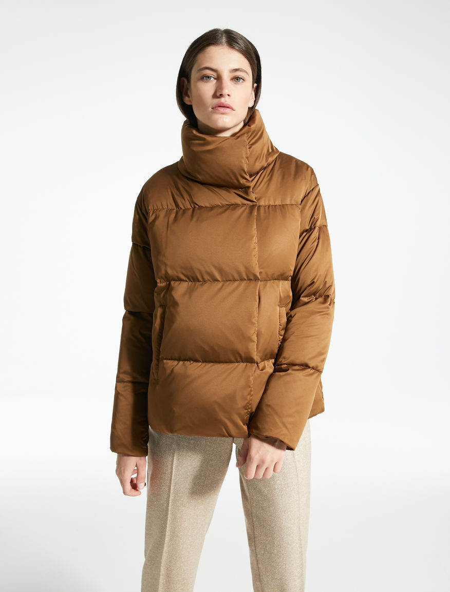 3f5e38b3a3786 Water-repellent satin down jacket Weekend Maxmara