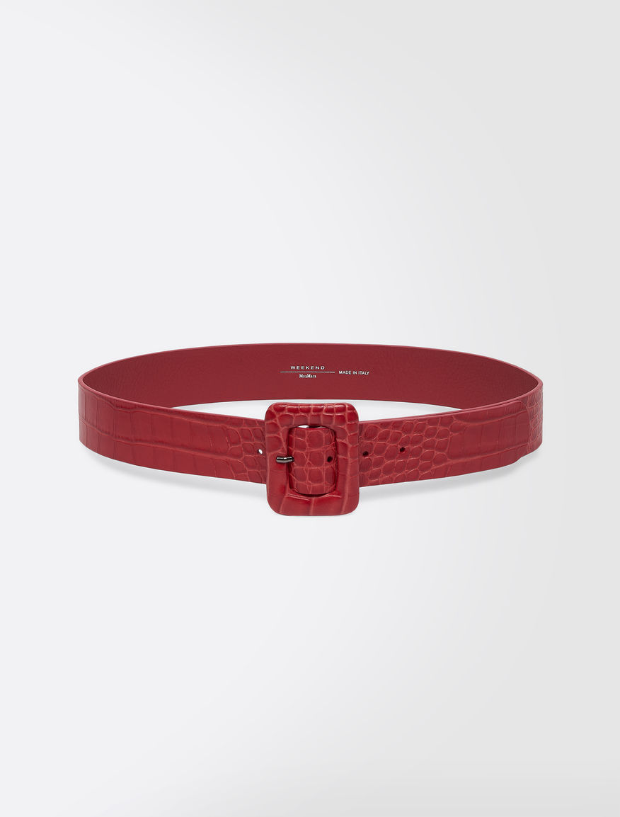 Crocodile print leather belt Weekend Maxmara