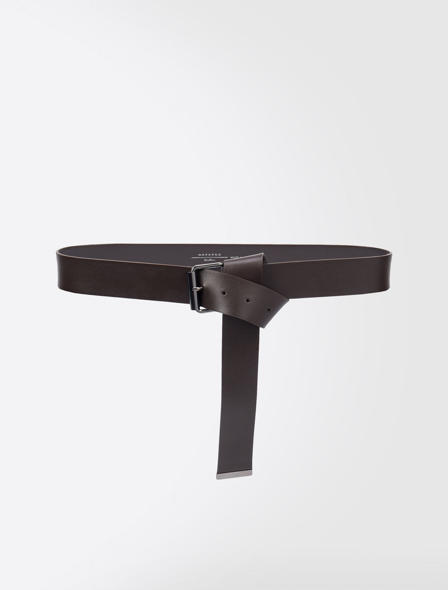 Leather belt with tip Weekend Maxmara