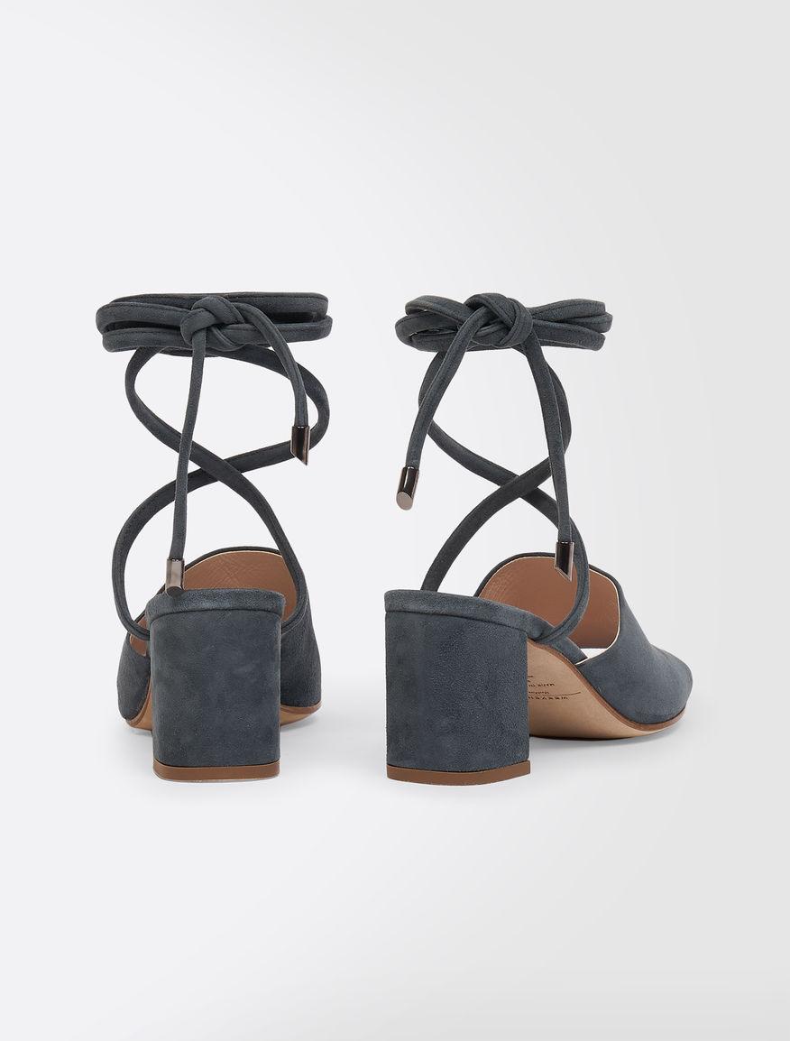 Suede leather mules Weekend Maxmara