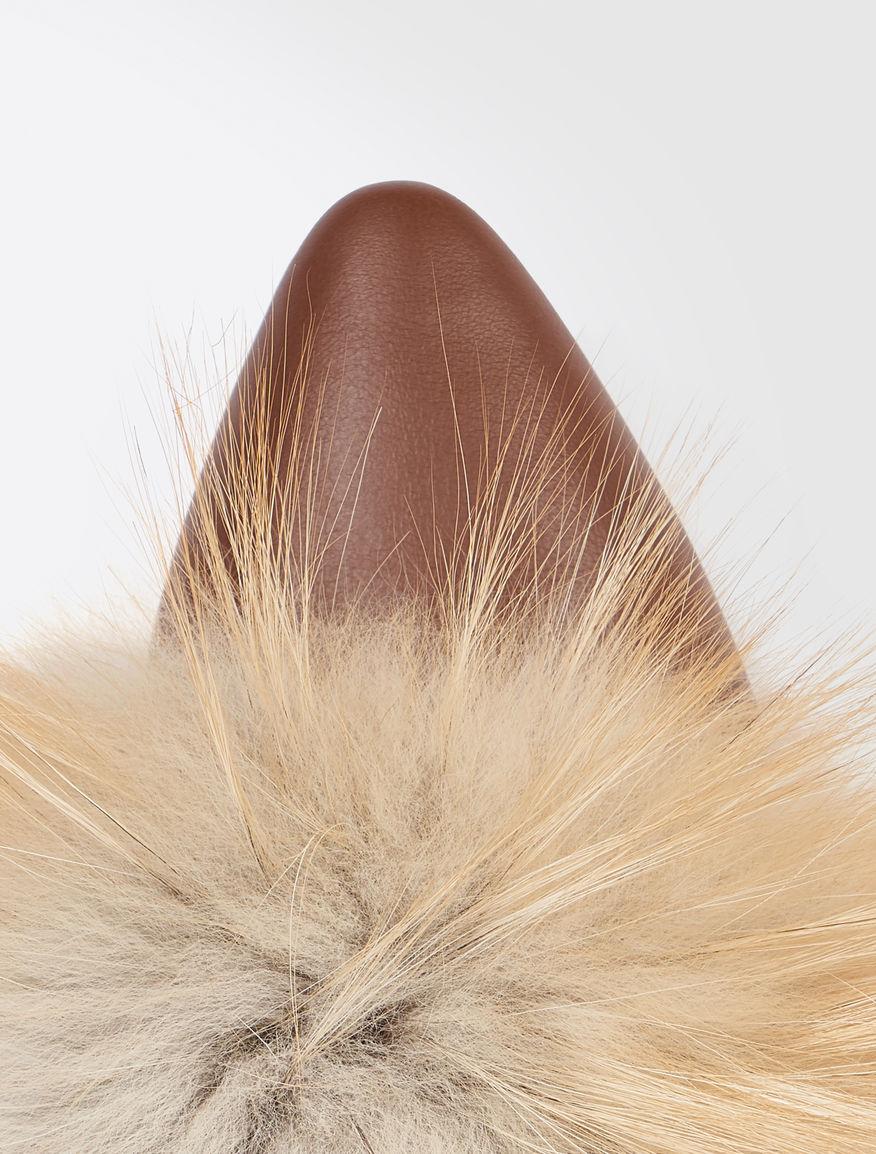 Fox fur clogs Weekend Maxmara